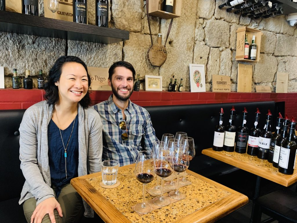 Kimberly and Joshua Schaub at a Wine Tasting