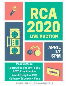 PeasOnMoss joins the RCA 2020 Live Auction